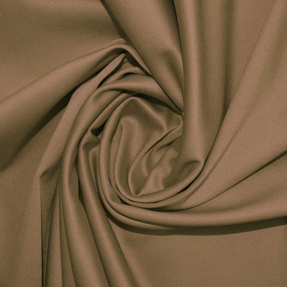Taupe Stretch Duchess Satin Fabric (SW) SKU03930