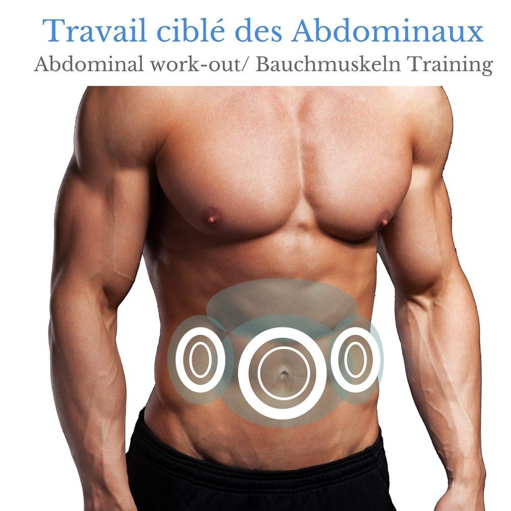 VEOFIT EMS Bauchmuskelgürtel zur Elektrischen Muskelstimulation ...