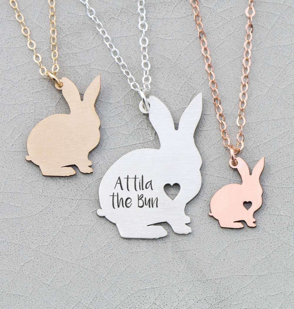 Bunny Pendant Gift Rabbit Necklace Jewelry,Love For Her For Him Love