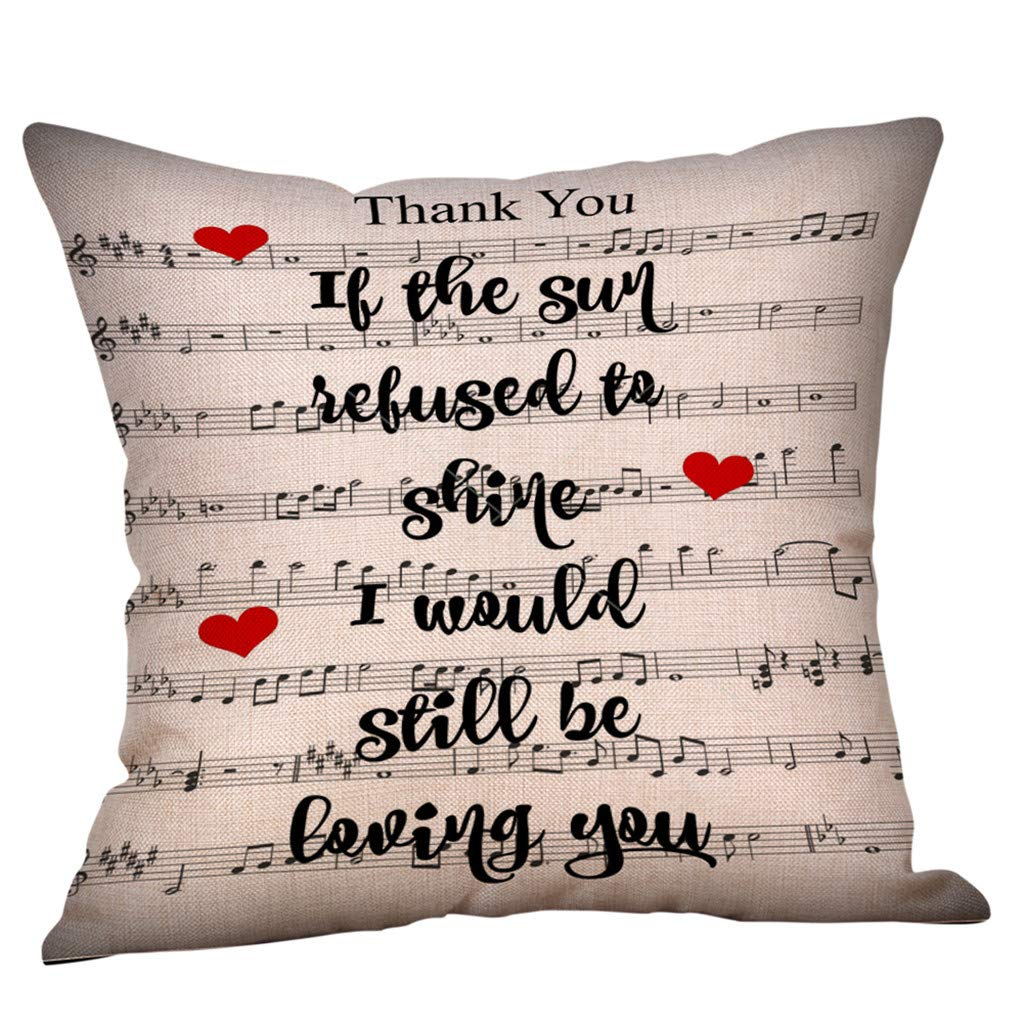 Sikye It's Love Linen Throw Cushion Pillow Cover Protects Removable for Valentine Home, Indoor, Outdoor, Bedroom Sofa 18 x 18 inches (H)