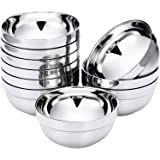 10 Pack 13 OZ Stainless Steel Bowls Double-walled Insulated Soup Bowls Multipurpose Rice Ice Cream Kids Snacks