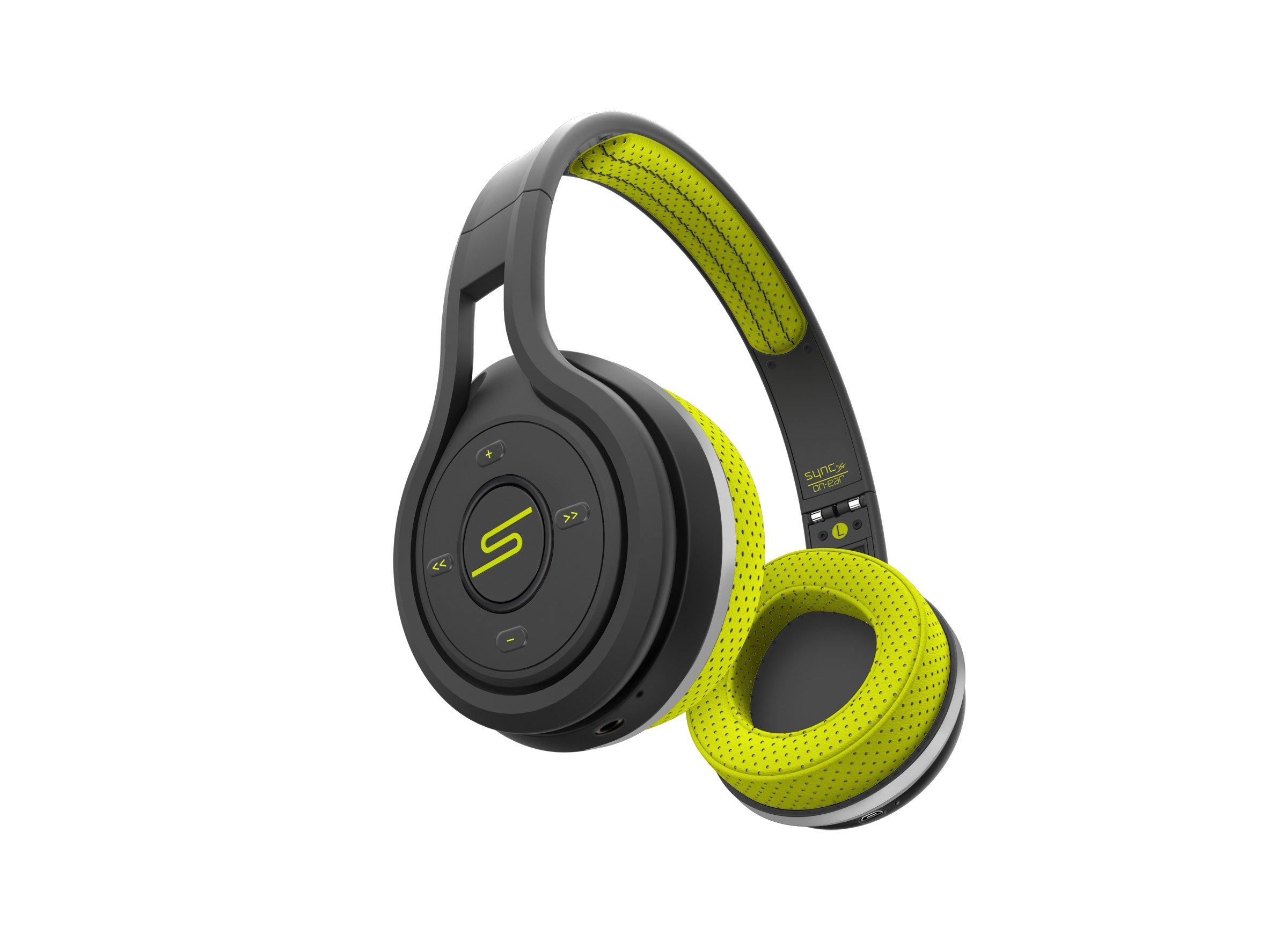 SMS Audio SMS-BTWS-SPRT-YLW SYNC By 50 On Ear Wireless Sport Headphones, Yellow