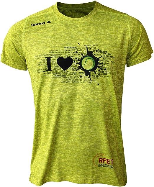 Luanvi Edición Limitada Camiseta técnica I Love Tennis, Hombre, Verde Pistacho, 2XL (60-75cm): Amazon.es: Ropa y accesorios