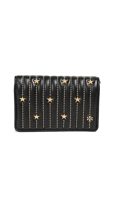 44d3e44a21d Tory Burch Women s Star Stud Black Leather Gold Slim Medium Wallet  Handbags   Amazon.com
