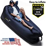 BCOMFY Inflatable Lounger | Lazy Bag, Inflatable Couch, Hammock Air Sofa | Ideal For Outdoor, Pool, Beach, Traveling, Hiking | Perfect Camping Gift | SUMMER SALE !!