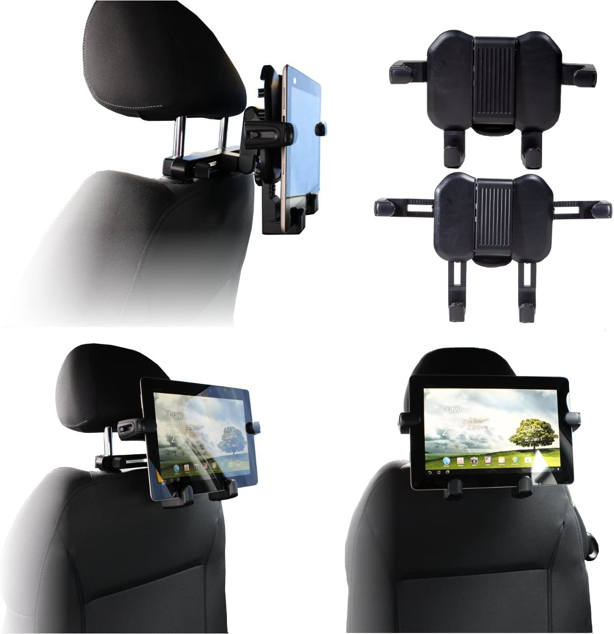 Navitech portable DVD player / Netbooks / Notebooks / Tablet pc & Laptop in Car Headrest / Back Seat Black Expandable Firm Grip Mount Cradle Compatible With The Apple Mac Book 240B/ A, Mac Book Air, macbook pro 15 inch GH 2.4/2.53/2.66, Apple MacBook Pro, MacBook Pr