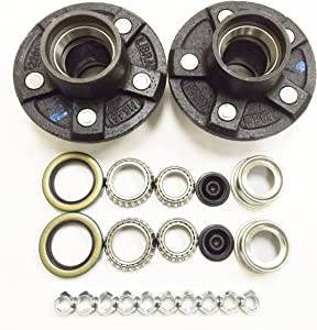 LIBRA Set of 2 Trailer Idler Hub Kits 5 on 4.5 for 3500 lbs Axle - 22017K
