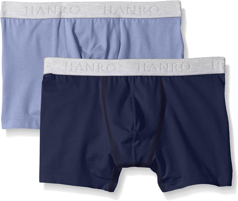 HANRO Mens Cotton Essentials 2-Pack Boxer Brief
