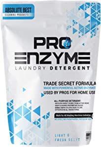 Pro-Enzyme Laundry Detergent Powder - Proprietary Active Enzymes for Home Washing Used by Professionals - Body Odor, Sweat, Stain Destroyer for Activewear, Clothing, Bedding - Fresh Deodorizer (48-oz)