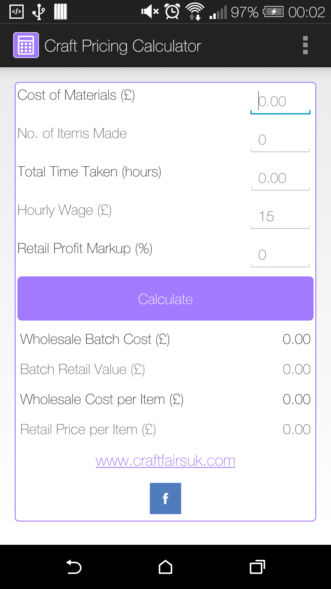 amazon com craft pricing calculator appstore for android