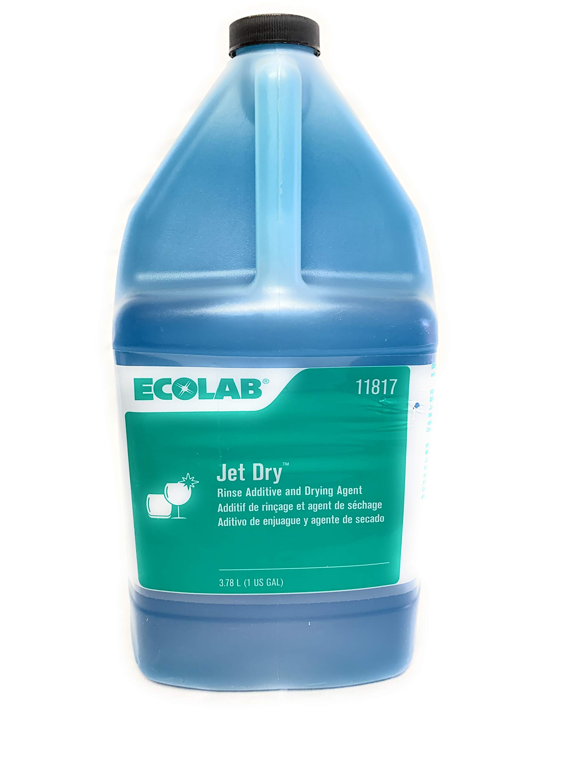 Ecolab JET DRY Dish Washware Rinse Additive Drying Agent - 1 Gallon