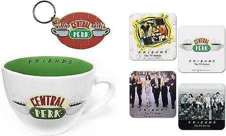Paquete de Merchandising de Friends – El juego perfecto de artículos coleccionables para todos los fans de la icónica serie de televisión 90s Mug, Coaster & Keychain: Amazon.es: Hogar
