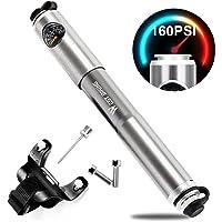 Icocopro Mini Fahrradpumpe mit digitalem Druckmessgerät, verlässliche Handluftpumpe, geeignet für Schrader- und Presta-Ventile, leicht und leistungsstark