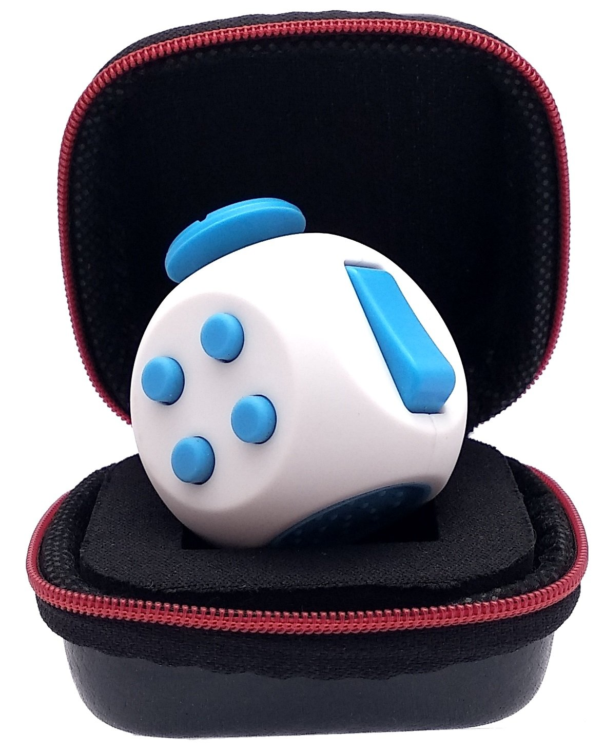 PILPOC theFube Fidget Cube - Premium Quality 12 Sides Fidget Cube Dice Dodecagon with Exclusive Carry Case, Durable, Relieve Stress and Anxiety, for ADD, ADHD, OCD by (Green & Mix Colors)