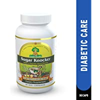 Sugar Knocker Ayurvedic Medicine for Diabetes, 100% Natural Herbal Product without Side Effect (90 Capsules For 30 Days) (Pack of 1)
