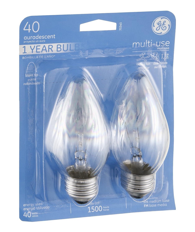 GE 2PK 40W Aurades Bulb