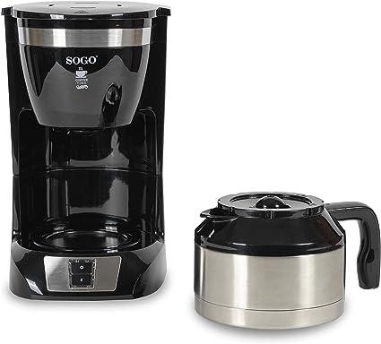 SOGO Cafetera de Goteo SS-5660 10 Tazas 800W: Amazon.es: Hogar