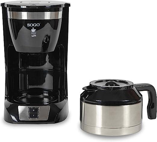 SOGO - Cafetera de Goteo eléctrica para 10 Tazas, 800W, 1L, CAF-SS ...