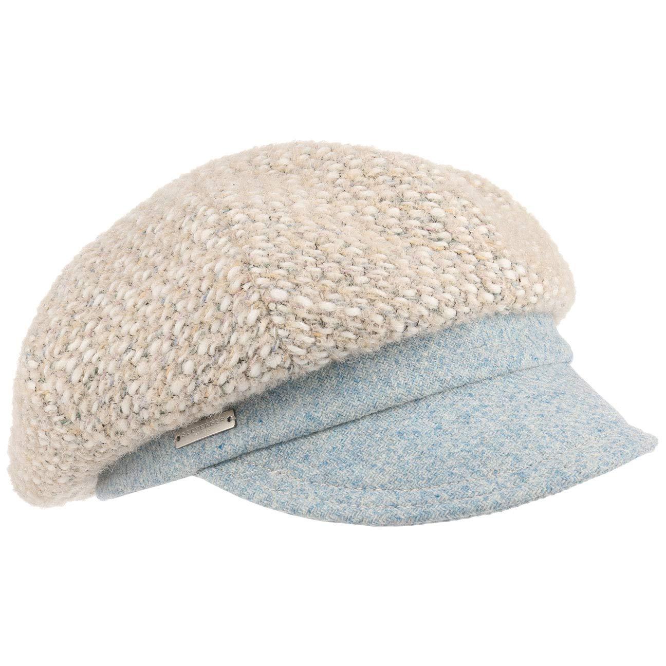 Seeberger Twotone Wool Ballonmütze Damencap Wollcap Wintercap Baker-Boy-Mütze Mit Schirm
