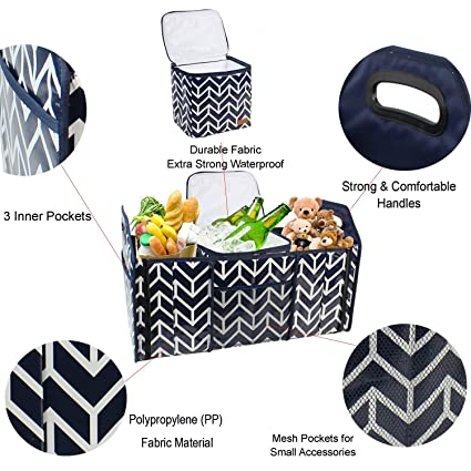 8cc66c9f853e Amazon.com: Trunk Organizer, Cargo Storage Bag with Foldable ...