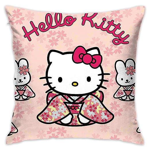 LIUYAN Funda de Almohada para Muchos Hello Kitty, Funda de ...