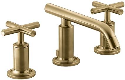 KOHLER KBGD Purist Widespread Bathroom Sink Faucet With Low - Kohler purist bathroom sink
