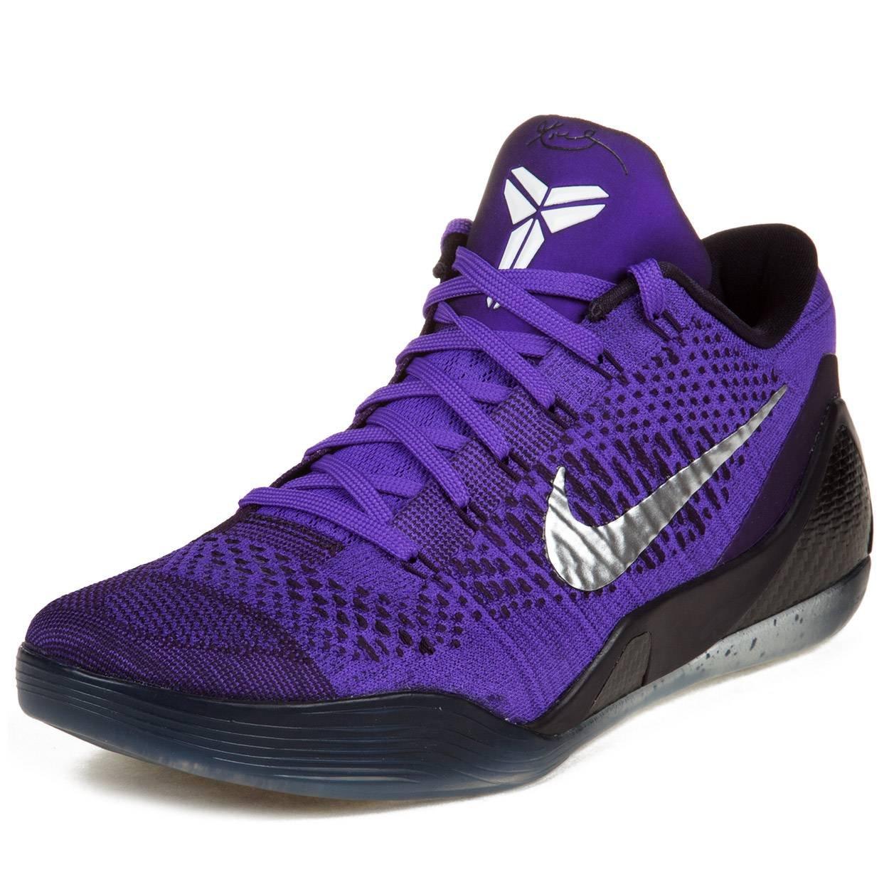 save off b2542 4ba02 Galleon - Nike Mens Kobe IX Elite Low Moonwalker Hyper Grape White-Cave  Purple Woven Basketball Shoes Size 10
