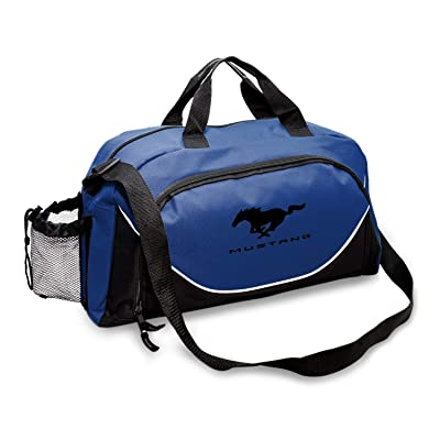 CarBeyondStore - Ford Mustang Large Travel Carry on Duffel Bag (Blue/Black): Automotive
