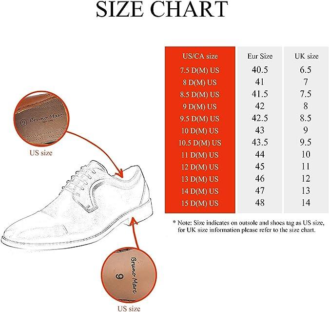 Bruno Marc Chaussures de Ville /à Lacets Habill/ées Oxford pour Hommes