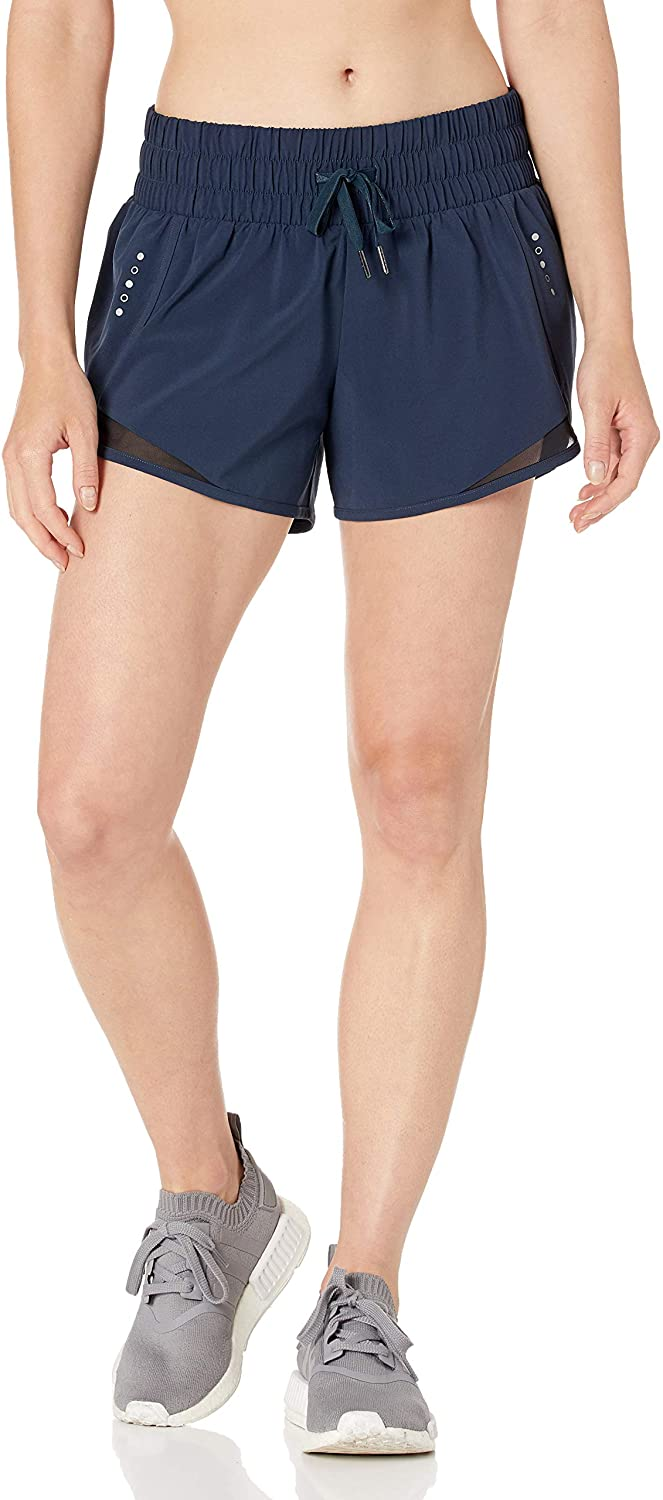 """Brand - Core 10 Women's (XS-3X) Rouched Waistband Run Short Brief Liner-3"""": Clothing"""