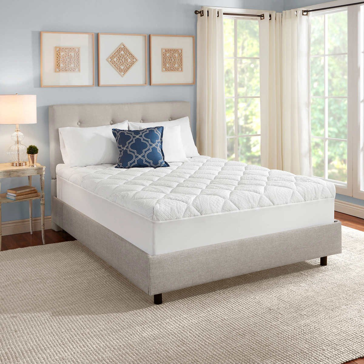 "Novaform 3"" Serafina Pearl Gel-Memory Foam Mattress Topper (Twin)"