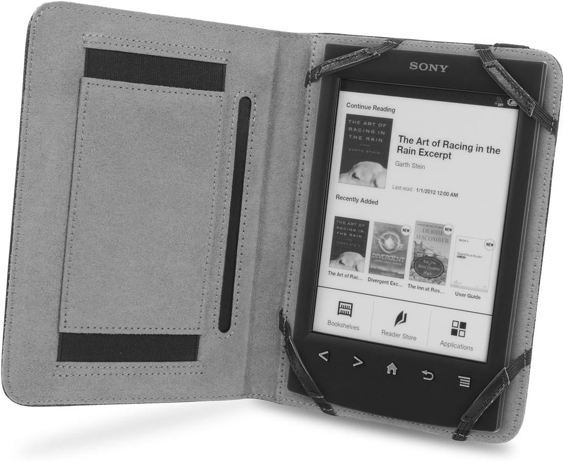 Cover-Up Funda Book Grip de Cuero para Sony Reader PRS-T1 / PRS-T2 ...