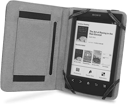 Cover-Up Funda Book Grip de Cuero para Sony Reader PRS-T1 ...