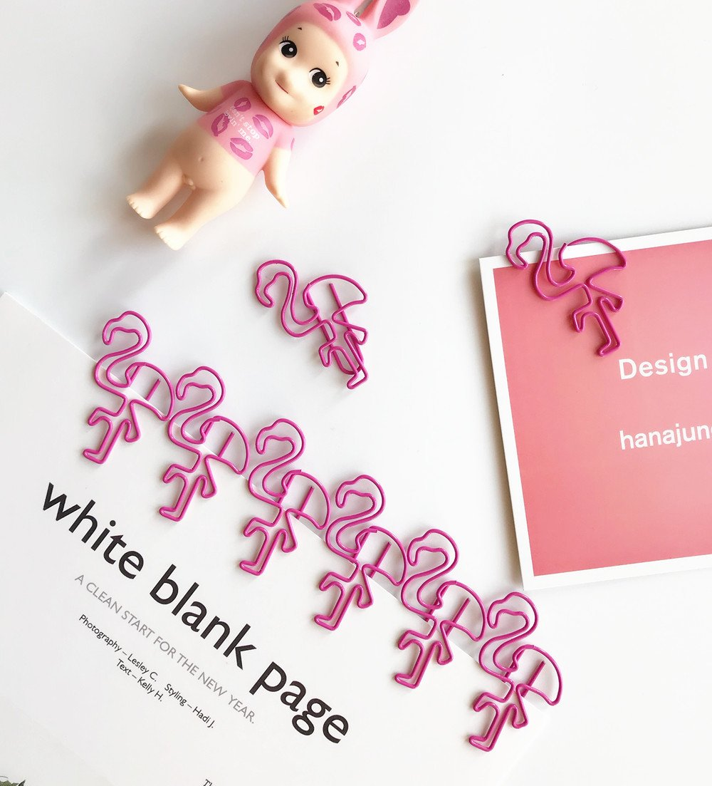 Amazon.com : 20 Pcs/lot Sweet Pink Flamingo Bookmark Paper ...