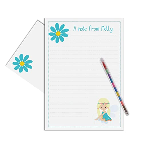 Image Unavailable Not Available For Colour Fairy Personalised Childrens Stationery Letter Writing Set