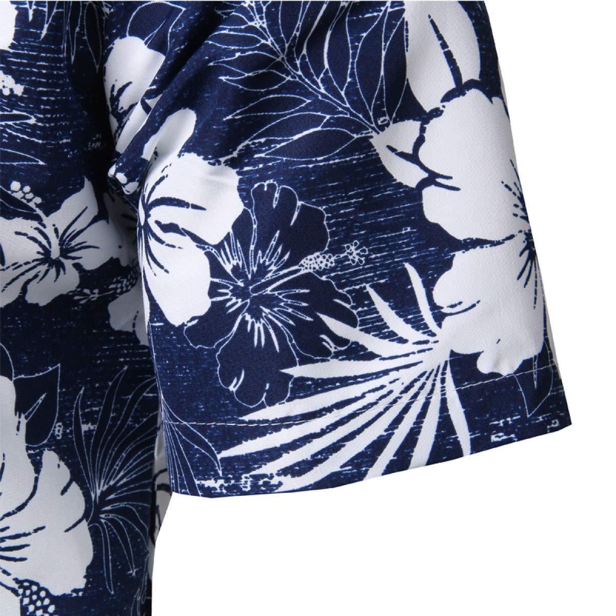 Aloha Shirt Men Mens Summer Short Sleeve Plus Size Floral Shirts Men Casual Holiday Vacation