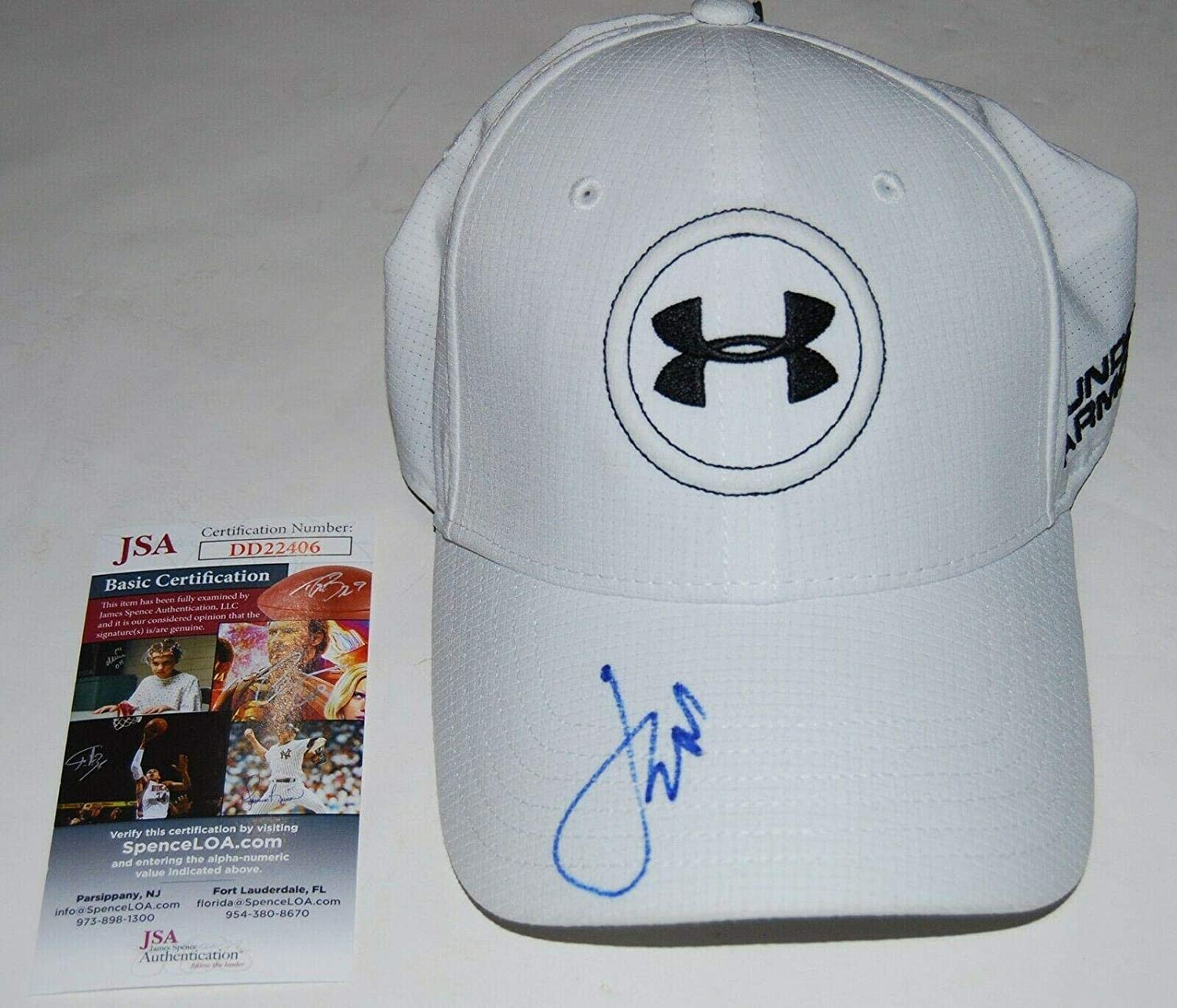 0bcc680948e JORDAN SPIETH signed (UNDER ARMOUR) White Golf hat cap Authenticated  2 - JSA  Certified - Autographed Golf Equipment at Amazon s Sports Collectibles Store