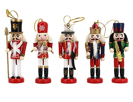 novias music band nutcrackers soldiers wooden puppet christmas ornament home decoration 5pcs sets perfect gift for