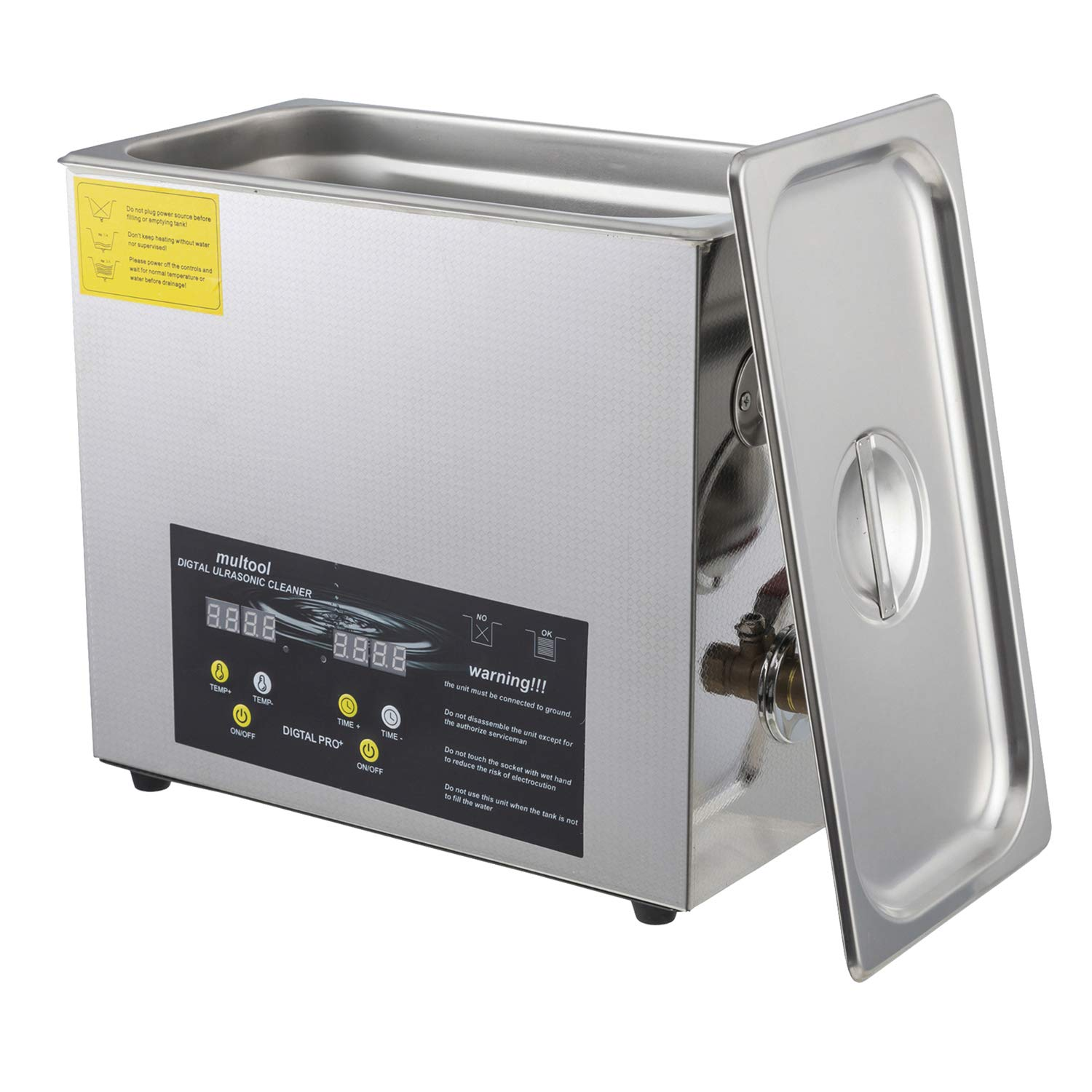 Ultrasonic Cleaner 6L with Digital Timer and Heater Ideal for Cleaning Glasses Watch Bands Carbs Silverware