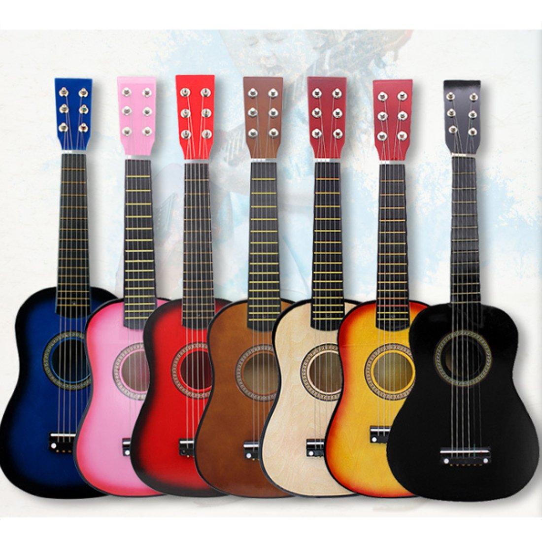 LOSGO 6 Saiten Kindergitarre aus Holz Sch/öne Spielgitarre S/üsse Erste Gitarre Klassische Gitarre Einstieg ab 3 Jahre