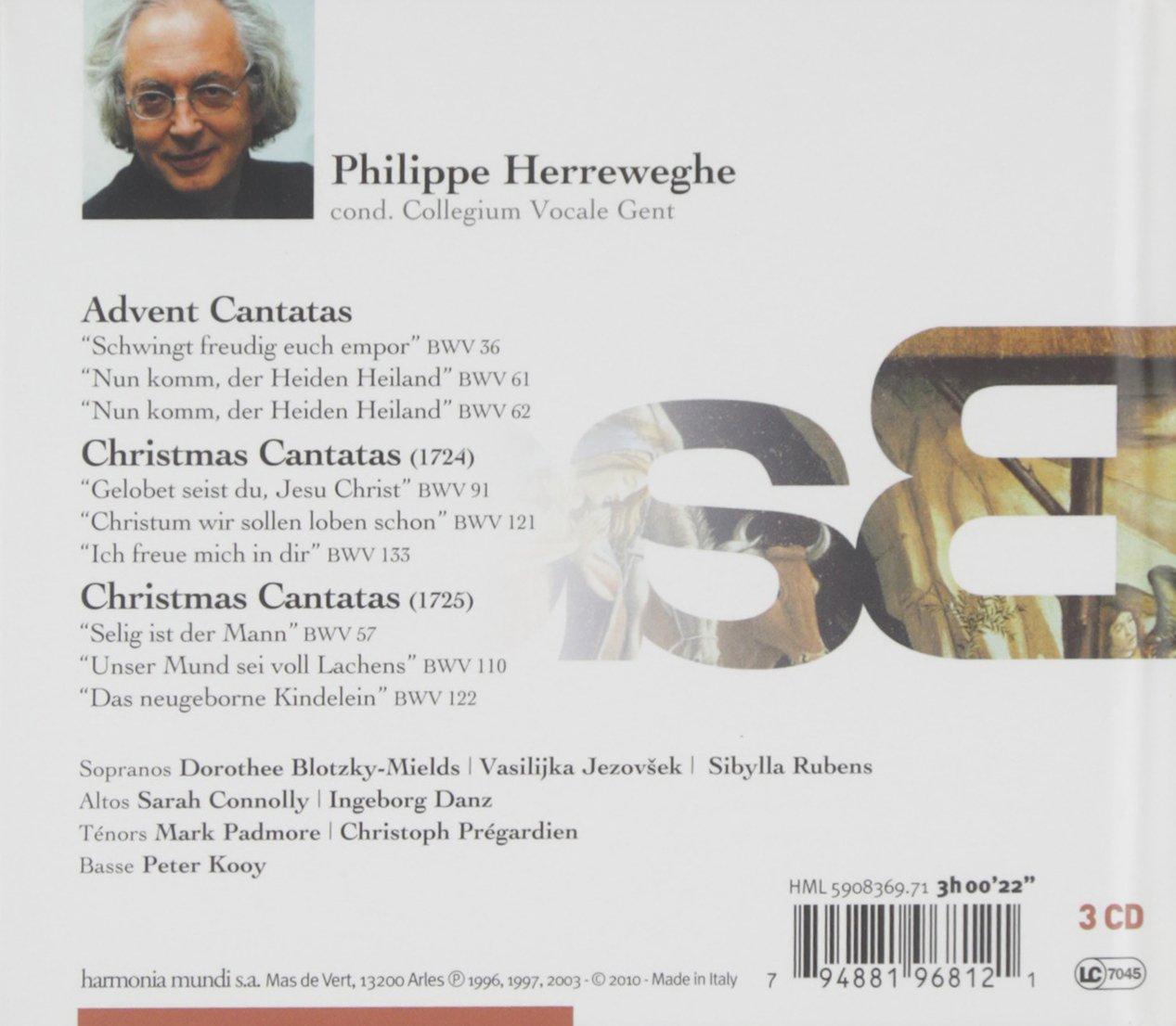Bach: Advent and Christmas Cantatas (Collegium Vocale/Herreweghe ...