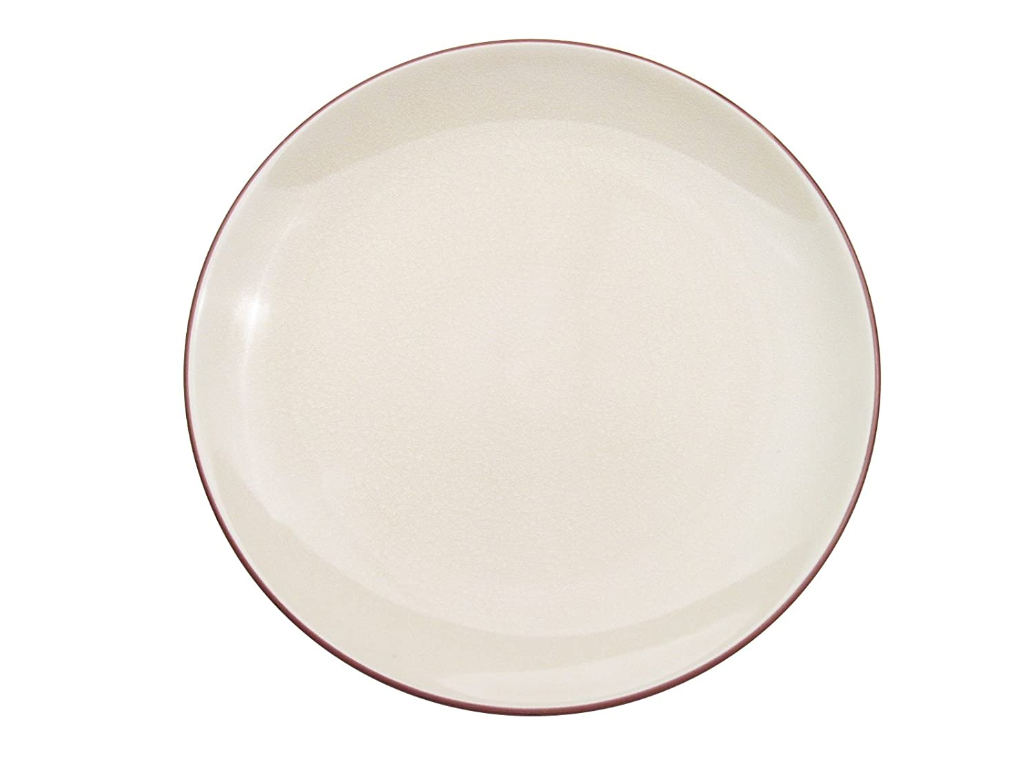 CAC China 666-16-W Japanese Style 10-Inch Creamy White Coupe Round Plate, Box of 12