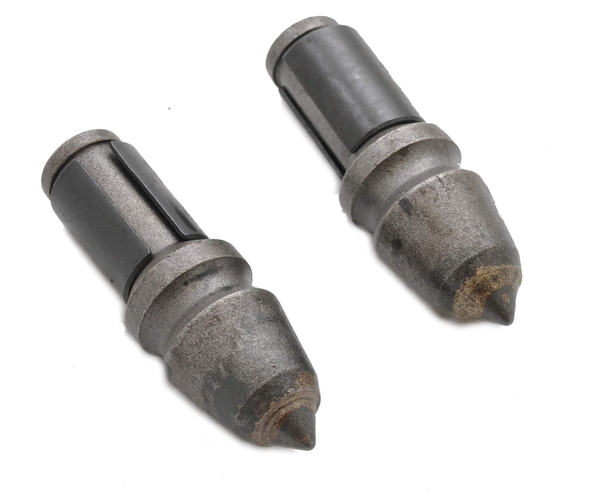 Pair of C21 Carbide Bullet Teeth for Rock Augers by ToolTuff