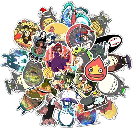 50pcs Cartoon Style Sticker Anime Cute Stickers for Skateboard Bicycle Laptop
