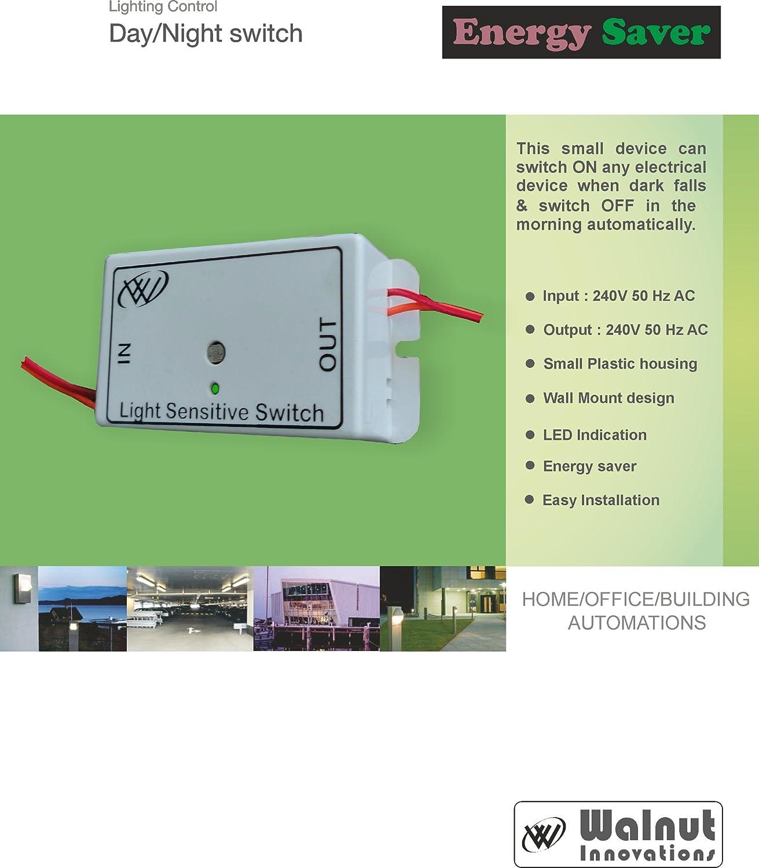 walnut innovations plastic day night automatic light sensor switch (siemens  grey): amazon in: home improvement