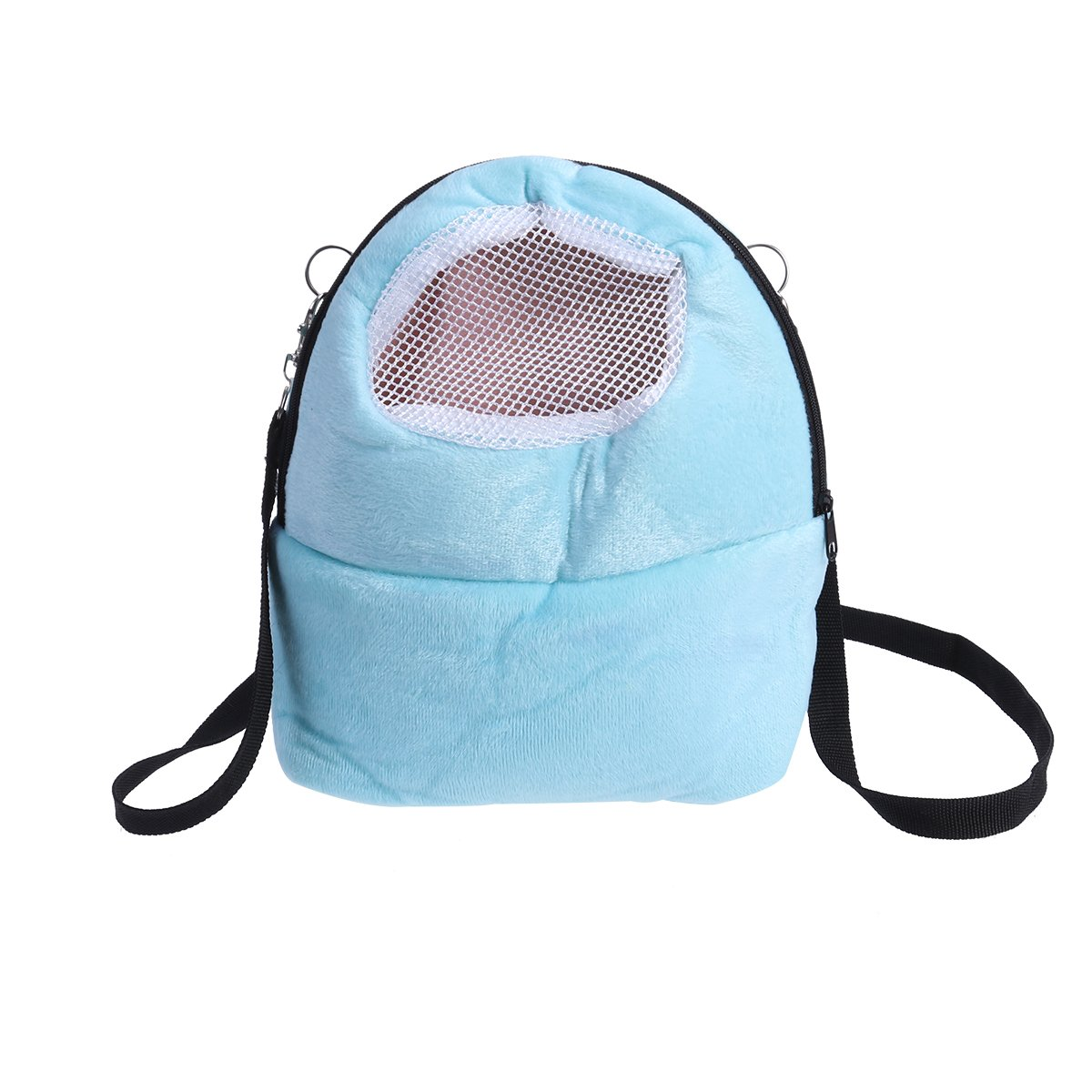 UEETEK Pet Carrier Bag Hamster Portable Breathable Outgoing Bag for Small Pets Size L (Blue)