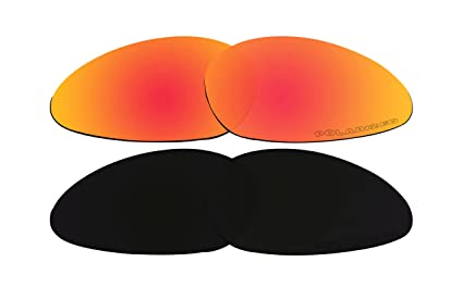 be86be0ad2 Image Unavailable. Image not available for. Color  2 Pairs Replacement  Lenses Polarized Red   Black for Oakley Minute 1.0 Sunglasses