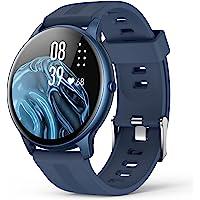 AGPTEK Smart Watch, 1,3 inch full touch fitnesshorloge met hartslagmeter, doe-het-zelf horlogegezicht, berichtmelding…