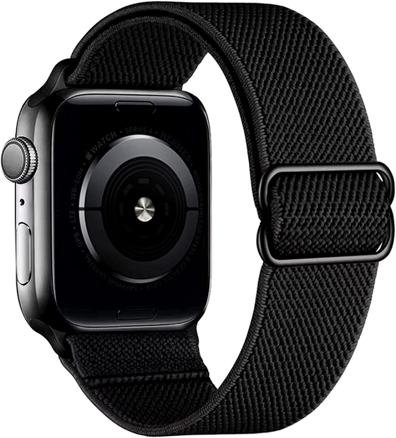 Yaber Stretchy Nylon Solo Loop Bands Compatible with Apple Watch , Adjustable Stretch Braided Sport Elastics Wristband Compatible with iWatch Series 6/5/4/3/2/1 SE