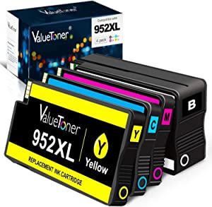 Valuetoner 952XL Remanufactured Ink Cartridges Replacement for HP 952 XL 952XL 952 High Yield for OfficeJet Pro 8710 8720 7740 8740 7720 8730 8210 8715 8216 8725 8702 -Upgraded Chip (4-Pack)